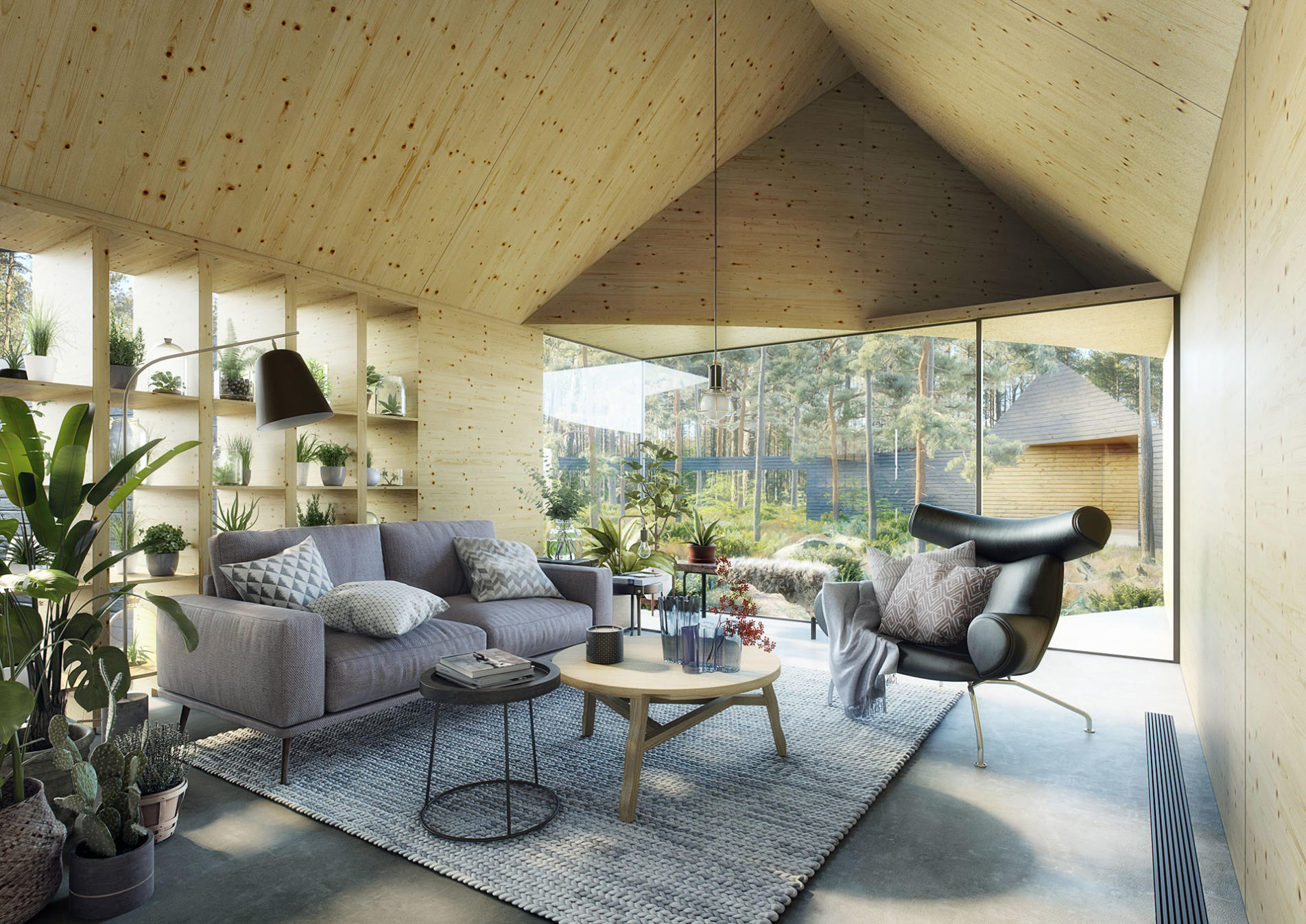 kaiserbold 3d rendering nordic interior livingroom